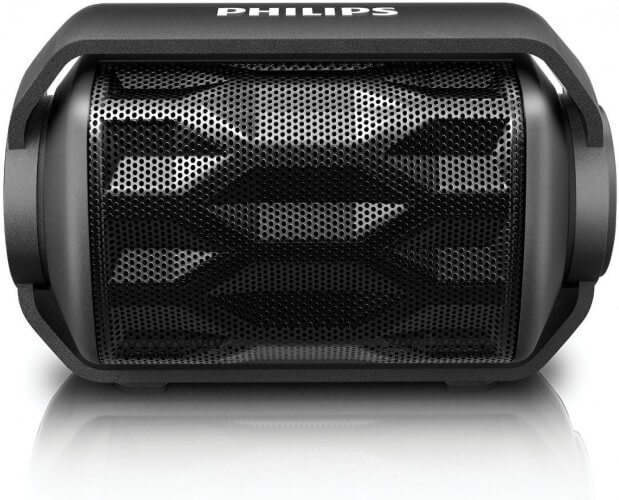 Philips BT2200B/27 Shoqpbox Mini Best Rugged Bluetooth Speaker for the Pool