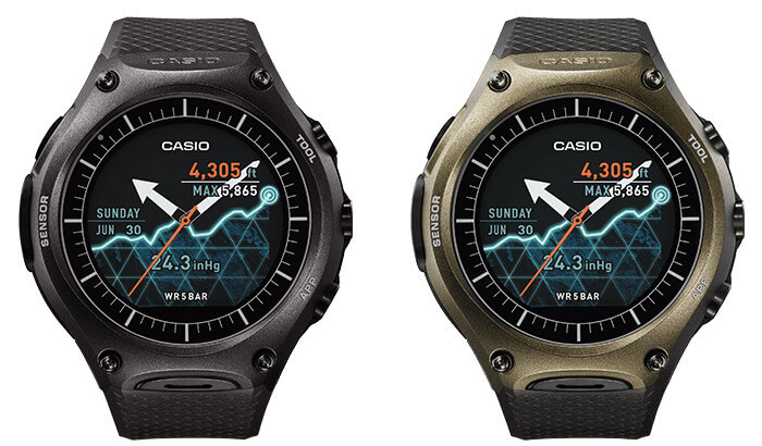Casio WSD-F10 Waterproof (50-meter WR) Outdoor Smartwatch