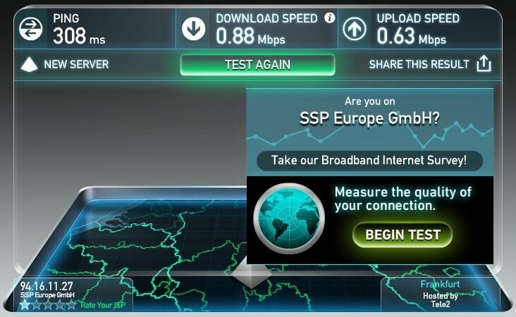 GlocalMe G1S Speed Test