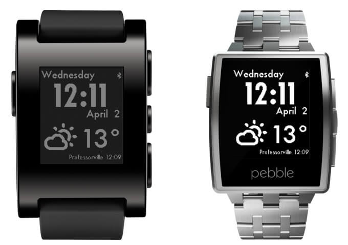 Pebble Classic and Pebble Steel Waterproof (50-meter WR) Smartwatches