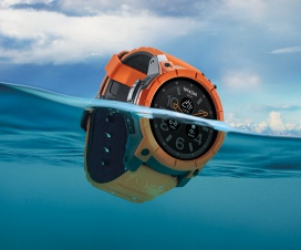 Nixon The Mission Android Wear 100 Meter Water Resistant Smartwatch