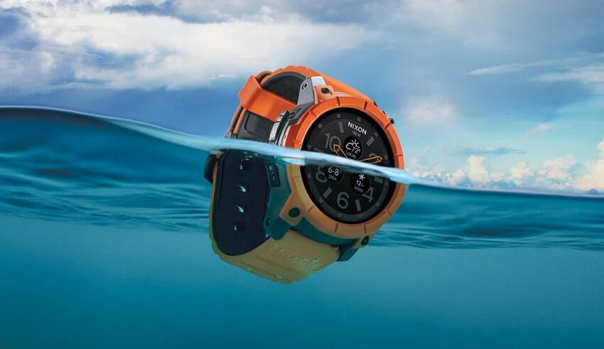 Nixon Mission Android Wear Smartwatch with 100-Meter Water-Resistance