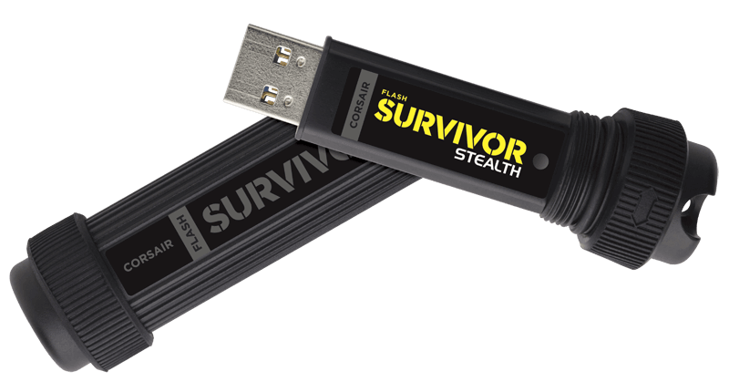 Corsair Flash Survivor Stealth Rugged and Waterproof USB Flash Drive