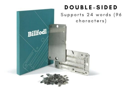 Billfodl Stainless Steel Crypto Private Key Backup