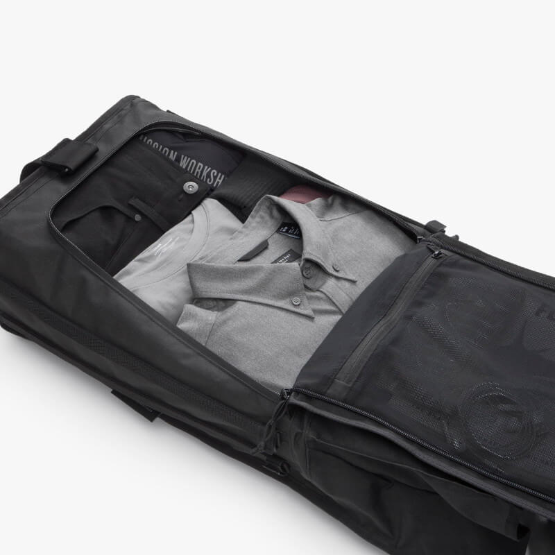 Mission Workshop Radian Travel Pack Flat Zipper Access