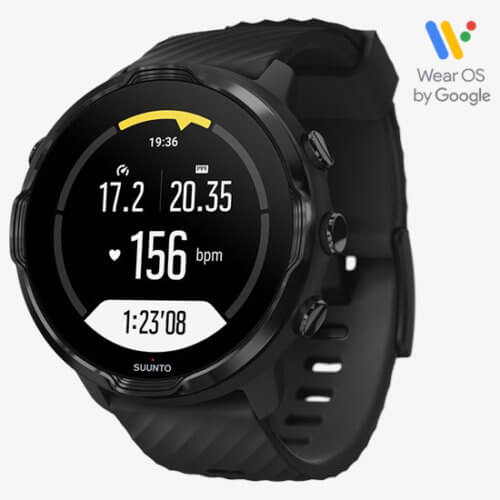 Suunto 7 Wear OS Rugged Smartwatch with 50-Meter Water Resistance