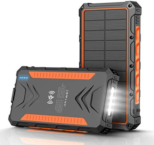 QiSa Solar Power Bank 30000 mAh with IP66 Water Resistance