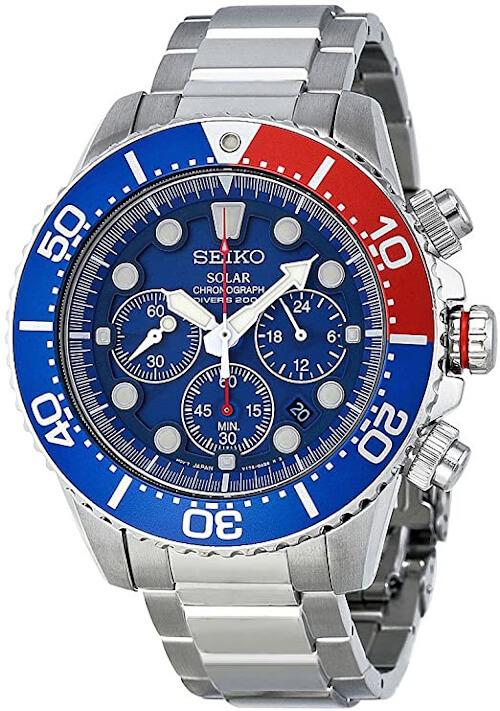 Seiko Solar Diver Chronograph Watch SSC019